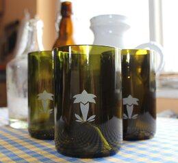 Upcyklované sklenice s hořcem
